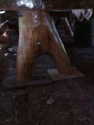 Título do anúncio: Messa rustica masisa de madeira
