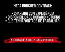 Título do anúncio: MEGA BURGUER CONTRATA