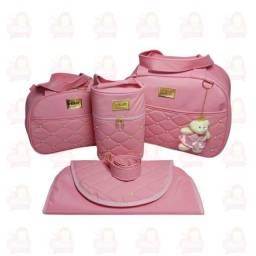Título do anúncio: Bolsa Maternidade 4 peças - Rosa