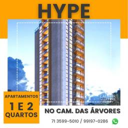 Título do anúncio: Hype Lançamento, Apartamentos 1/4 com 50m² - Caminho das Árvores