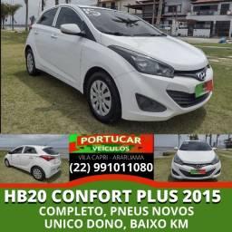 Título do anúncio: HB20 Comfort Plus 2015 1.0/3 cilindros Unico Dono