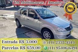 LOGAN 1.0 ENTRADA 3.000 +  PARCELAS R$ 659,00