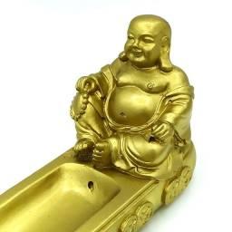 Título do anúncio: Incensário Canaleta Buda da Prosperidade (24cm)