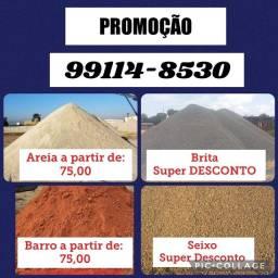 Título do anúncio: Areia barro Seixo brita promoção construção