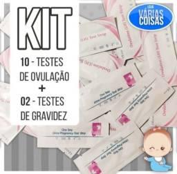 Kit 10 testes de ovulação + 02 testes de gravidez