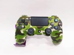 Joystick PS4 S/ fio Original Camouflage - Aceito Cartão
