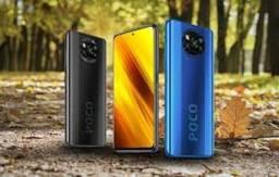 Título do anúncio: Poco X3 64GB/ 6ram Cinza/Azul