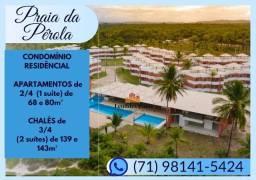 Título do anúncio: Cond. em Ilhéus- Apartamentos 2/4, Chalés com 3/4 (segurança e lazer) Praia da Pérola/N8*