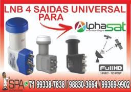 Título do anúncio: Lnb 4 Saidas Universal Banda Ku 4k Hd Lnbf Para Alphasat