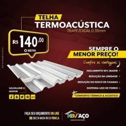 Título do anúncio: Telhas termoacústica apartir de 140,00 o metro somos de Manaus