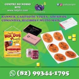Título do anúncio: Banner, Cartão de Visita, Panfletos, Blocos de recibos e comandas