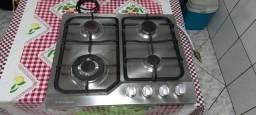 Título do anúncio: Fogão cooktop 4 bocas Electrolux inox
