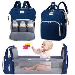 Bolsa 2 em 1. Bolsa e berço portátil. Cuidados com o bebê e todas as ocasiões.