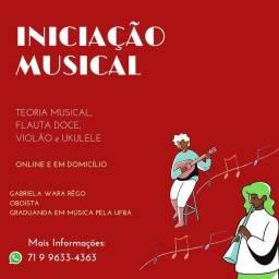 Título do anúncio: Aula de Violão, Ukulele e Flauta doce