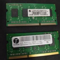 Memória Ram 2gb DDR3 para notebook