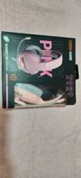 Headset Gamer Oex Pinky Fox Rosa 7.1 Usb Rosa C/ Led Lateral<br>