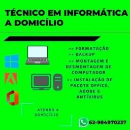 Título do anúncio: Formatação notebook computador