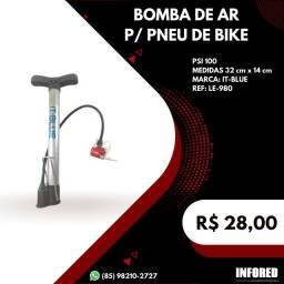 Título do anúncio: Bomba de Ar para Pneu de Bike - R$28,00