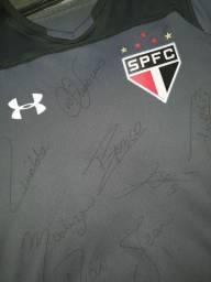 Camisa São Paulo Treino G Autografada