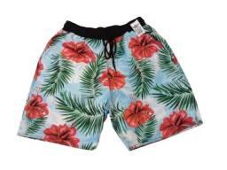 Shorts tactel 4 cabos cós duplo masculino adulto