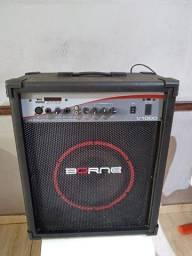 Caixa Amplificada Multiuso Borne V1000 Preta 80w Bluetooth (pouco usada)