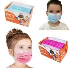Máscara Descartável Tripla Proteção Infantil 50 unid.