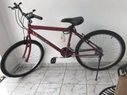 Bicicleta Aro 26 Cairu Flash 21 Marchas Freio V-Brake em Aço Carbono - Vermelho