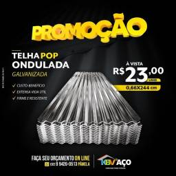 Título do anúncio: Telha pop 2,44X0,66 valor 23,00 a vista somos de Manaus