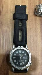 relógio de seiko mod. 900494 pulseira de couro