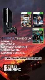 XBOX 360 TRAVADO COM JOGOS