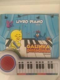 Livro Piano Galinha Pintadinha