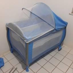 Berço Portatil Burigotto Nanna Azul