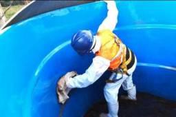 Fazemos limpeza higienização CAIXA da água