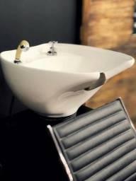 Kit cadeira + lavatório cuba porcelana