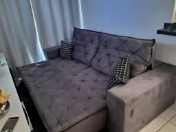 Sofá Retrátil e Reclinável Com Pillow Martins Soares