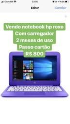 Notebook Hp roxo