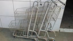 Carrinho supermercados duplos ,90 LTS