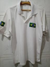 Camisas Polo Brasil - Tam.: M (2 unidades)
