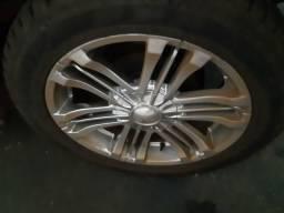 Vendo ou troco roda aro 20 com 4 pneus novos - 2006