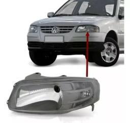 Farol Mascara Cinza VW Gol Parati Saveiro G4 Esquerdo