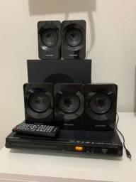 Home Theater HDMI, AUX, 320W, RMS 5.1 Canais, Preto Multilaser