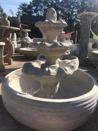 Fonte cimento com bacia