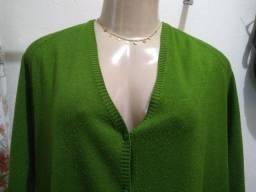 Cardigã verde oliva GG