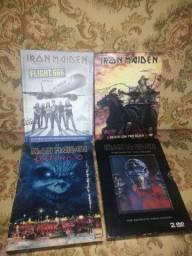 4 Box DVDs Iron Maiden raros(leia a descrição).
