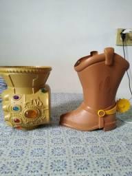 Pote de pipoca Vingadores Ultimato + Toy Story 4