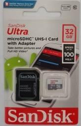 Título do anúncio: Cartão Memória Sandisk Ultra 32 Gb