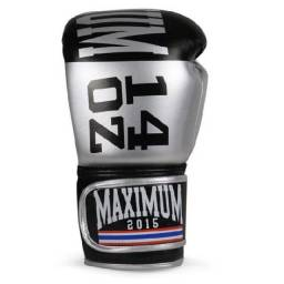 Título do anúncio: Par Luva Prata Muay Thai Boxe Kickboxing Maximum