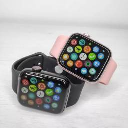 Smart watch iwo tela infinita + pulseira extra de brinde