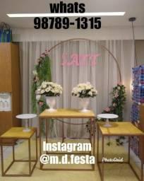 Título do anúncio: Aluguel mesas cubos e arco aluguel MD festa