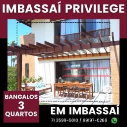 Título do anúncio: Imbassaí Privillege - Bangalôs 2 suítes, 158m²- Incrível